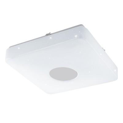 Настенно-потолочный светильник Eglo 95974 VOLTAGO 2квадратные светильники<br>Светодиодный настенно-потолочный светильник VOLTAGO 2 с пультом ДУ, 14W(LED), 280х280, сталь, белый/пластик с эф. хрусталя, белый применяется преимущественно в домашнем освещении с использованием стандартных выключателей и переключателей для сетей 220V.