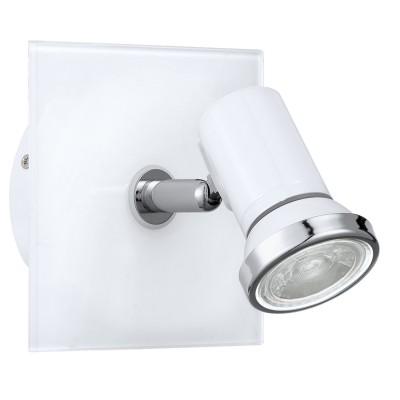 Eglo TAMARA 1 95993 Светильник для ванной комнатыОдиночные<br>Светодиодный спот TAMARA 1, в ванн. комнату, 1х3,3W(GU10), 120х120, IP44, сталь, стекло, белый, хром применяется преимущественно в домашнем освещении с использованием стандартных выключателей и переключателей для сетей 220V.<br><br>S освещ. до, м2: 2<br>Тип лампы: LED - светодиодная<br>Тип цоколя: GU10<br>Цвет арматуры: белый, хром<br>Количество ламп: 1<br>Ширина, мм: 120<br>Длина, мм: 120<br>MAX мощность ламп, Вт: 3