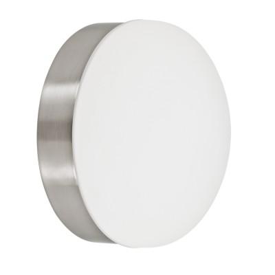 Eglo CUPELLA 96002 Настенно-потолочный светильникКруглые<br>Светодиодный настенно-потолочный светильник CUPELLA, 6W(LED), ?130, сталь, никель мат./сатин. стекло, белый применяется преимущественно в домашнем освещении с использованием стандартных выключателей и переключателей для сетей 220V.<br><br>S освещ. до, м2: 2<br>Цветовая t, К: 3000<br>Тип лампы: LED - светодиодная<br>Тип цоколя: LED<br>Цвет арматуры: серебристый<br>Количество ламп: 1<br>Диаметр, мм мм: 130<br>Высота, мм: 80<br>MAX мощность ламп, Вт: 6