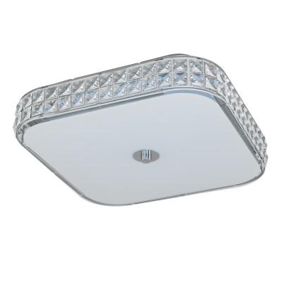 96004 Eglo - Светодиодный потол. светильник CARDILLIO диммир.современные потолочные люстры модерн<br><br><br>Цветовая t, К: 4000<br>Тип лампы: LED - светодиодная<br>Тип цоколя: LED, встроенные светодиоды<br>Цвет арматуры: серебристый<br>Количество ламп: 1<br>Ширина, мм: 400<br>Длина, мм: 400<br>Высота, мм: 105<br>Поверхность арматуры: глянцевая<br>Оттенок (цвет): серебристый<br>Общая мощность, Вт: 23.5