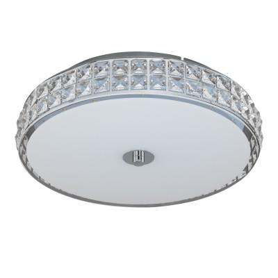 96005 Eglo - Светодиодный потол. светильник CARDILLIO диммир.Потолочные<br><br><br>Цветовая t, К: 4000<br>Тип лампы: LED - светодиодная<br>Тип цоколя: LED, встроенные светодиоды<br>Цвет арматуры: серебристый<br>Количество ламп: 1<br>Диаметр, мм мм: 385<br>Высота полная, мм: 105<br>Поверхность арматуры: глянцевая<br>Оттенок (цвет): серебристый<br>Общая мощность, Вт: 23.5