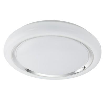 Eglo CAPASSO 96024 Настенно-потолочный светильникКруглые<br>Светодиодный настенно-потолочный светильник CAPASSO, 24W(LED), ?400, сталь, белый/пластик, белый, хром применяется преимущественно в домашнем освещении с использованием стандартных выключателей и переключателей для сетей 220V.<br><br>S освещ. до, м2: 10<br>Цветовая t, К: 3000<br>Тип лампы: LED - светодиодная<br>Тип цоколя: LED<br>Количество ламп: 1<br>MAX мощность ламп, Вт: 24<br>Диаметр, мм мм: 400<br>Высота, мм: 70<br>Цвет арматуры: белый