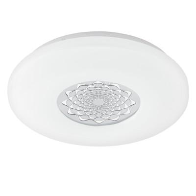 Eglo CAPASSO 1 96025 Настенно-потолочный светильникКруглые<br>Светодиодный настенно-потолочный светильник CAPASSO 1, 18W(LED), ?340, сталь, белый/пластик, белый, хром применяется преимущественно в домашнем освещении с использованием стандартных выключателей и переключателей для сетей 220V.<br><br>S освещ. до, м2: 7<br>Цветовая t, К: 3000<br>Тип лампы: LED - светодиодная<br>Тип цоколя: LED<br>Цвет арматуры: белый<br>Количество ламп: 1<br>Диаметр, мм мм: 340<br>Высота, мм: 50<br>MAX мощность ламп, Вт: 18