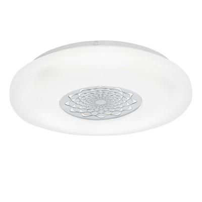 Настенно-потолочный светильник Eglo 96026 CAPASSO 1круглые светильники<br>Светодиодный настенно-потолочный светильник CAPASSO 1, 24W(LED), ?400, сталь, белый/пластик, белый, хром применяется преимущественно в домашнем освещении с использованием стандартных выключателей и переключателей для сетей 220V.