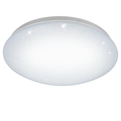 Eglo GIRON-S 96028 Настенно-потолочный светильникКруглые<br>Светодиодный настенно-потолочный светильник GIRON-S, 15W(LED), ?385, сталь, белый/пластик с эф. хрусталя, белый применяется преимущественно в домашнем освещении с использованием стандартных выключателей и переключателей для сетей 220V.<br><br>S освещ. до, м2: 6<br>Цветовая t, К: 3000<br>Тип лампы: LED - светодиодная<br>Тип цоколя: LED<br>Количество ламп: 1<br>MAX мощность ламп, Вт: 15<br>Диаметр, мм мм: 385<br>Высота, мм: 120<br>Цвет арматуры: белый