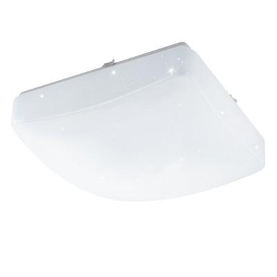 Eglo GIRON-S 96029 Настенно-потолочный светильникКвадратные<br>Светодиодный настенно-потолочный светильник GIRON-S, 11W(LED), 280х280, сталь, белый/пластик с эф. хрусталя, белый применяется преимущественно в домашнем освещении с использованием стандартных выключателей и переключателей для сетей 220V.<br><br>S освещ. до, м2: 4<br>Цветовая t, К: 3000<br>Тип лампы: LED - светодиодная<br>Тип цоколя: LED<br>Цвет арматуры: белый<br>Количество ламп: 1<br>Ширина, мм: 280<br>Длина, мм: 280<br>Высота, мм: 70<br>MAX мощность ламп, Вт: 11