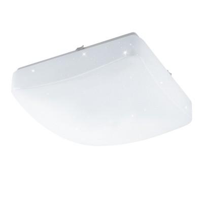 Eglo GIRON-S 96031 Настенно-потолочный светильникКвадратные<br>Светодиодный настенно-потолочный светильник GIRON-S, 15W(LED), 375х375, сталь, белый/пластик с эф. хрусталя, белый применяется преимущественно в домашнем освещении с использованием стандартных выключателей и переключателей для сетей 220V.<br><br>S освещ. до, м2: 6<br>Цветовая t, К: 3000<br>Тип лампы: LED - светодиодная<br>Тип цоколя: LED<br>Цвет арматуры: белый<br>Количество ламп: 1<br>Ширина, мм: 375<br>Длина, мм: 375<br>Высота, мм: 70<br>MAX мощность ламп, Вт: 15
