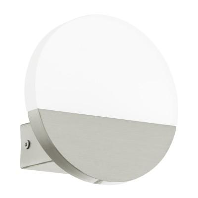 Eglo METRASS 1 96041 Настенное браХай-тек<br>Светодиодное бра METRASS 1, 5W(LED), L130, H130, алюминий, никель мат./пластик, матовый применяется преимущественно в домашнем освещении с использованием стандартных выключателей и переключателей для сетей 220V.<br><br>Цветовая t, К: 3000<br>Тип лампы: LED - светодиодная<br>Тип цоколя: LED<br>Цвет арматуры: серебристый<br>Количество ламп: 1<br>Глубина, мм: 50<br>Длина, мм: 130<br>Высота, мм: 130<br>MAX мощность ламп, Вт: 5