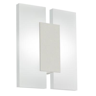 Eglo METRASS 2 96043 Настенно-потолочный светильникКвадратные<br>Светодиодное бра METRASS 2, 2х5W(LED), L170, H200, алюминий, белый/пластик, матовый применяется преимущественно в домашнем освещении с использованием стандартных выключателей и переключателей для сетей 220V.<br><br>S освещ. до, м2: 4<br>Цветовая t, К: 3000<br>Тип лампы: LED - светодиодная<br>Тип цоколя: LED<br>Количество ламп: 2<br>MAX мощность ламп, Вт: 5<br>Глубина, мм: 55<br>Длина, мм: 170<br>Высота, мм: 200<br>Цвет арматуры: серебристый