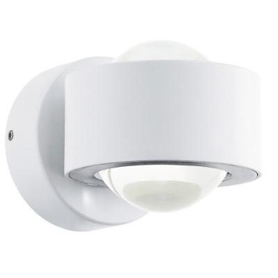 Eglo ONO 2 96048 Настенно-потолочный светильникДекоративные<br>Светодиодное бра ONO 2, 2х2,5W(LED), L90, H180, алюминий, белый/пластик, прозрачный применяется преимущественно в домашнем освещении с использованием стандартных выключателей и переключателей для сетей 220V.<br><br>S освещ. до, м2: 2<br>Цветовая t, К: 3000<br>Тип лампы: LED - светодиодная<br>Тип цоколя: LED<br>Цвет арматуры: белый<br>Количество ламп: 2<br>Глубина, мм: 130<br>Длина, мм: 90<br>Высота, мм: 80<br>MAX мощность ламп, Вт: 3