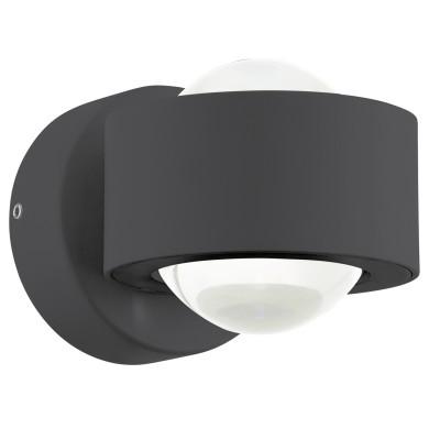Eglo ONO 2 96049 Настенно-потолочный светильникдекоративные светильники<br>Светодиодное бра ONO 2, 2х2,5W(LED), L90, H180, алюминий, антрацит/пластик, прозрачный применяется преимущественно в домашнем освещении с использованием стандартных выключателей и переключателей для сетей 220V.<br><br>S освещ. до, м2: 2<br>Цветовая t, К: 3000<br>Тип лампы: LED - светодиодная<br>Тип цоколя: LED<br>Цвет арматуры: черный антрацит<br>Количество ламп: 2<br>Глубина, мм: 130<br>Длина, мм: 90<br>Высота, мм: 80<br>MAX мощность ламп, Вт: 3