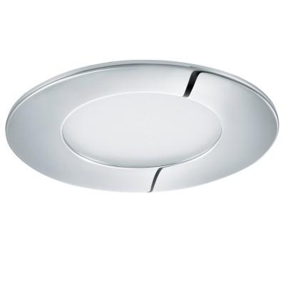 Eglo FUEVA 1 96053 Светильник для ванной комнатыВ ванную<br>Светодиодная ультратонкая встраиваемая панель FUEVA 1, 2,7W (LED) 3000K, ?85, IP44, хром применяется преимущественно в домашнем освещении с использованием стандартных выключателей и переключателей для сетей 220V.<br><br>S освещ. до, м2: 1<br>Цветовая t, К: 3000<br>Тип лампы: LED - светодиодная<br>Тип цоколя: LED<br>Количество ламп: 1<br>MAX мощность ламп, Вт: 3<br>Диаметр, мм мм: 85<br>Цвет арматуры: серебристый хром