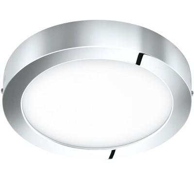 Eglo FUEVA 1 96058 Светильник для ванной комнатыДля ванной<br>Светодиодная ультратонкая накладная панель FUEVA 1, 22W (LED) 3000K, ?300, IP44, хром применяется преимущественно в домашнем освещении с использованием стандартных выключателей и переключателей для сетей 220V.<br><br>Тип товара: Светильник для ванной комнаты<br>Цветовая t, К: 3000<br>Тип лампы: LED - светодиодная<br>Тип цоколя: LED<br>Количество ламп: 1<br>MAX мощность ламп, Вт: 22<br>Диаметр, мм мм: 300<br>Высота, мм: 40<br>Цвет арматуры: хром