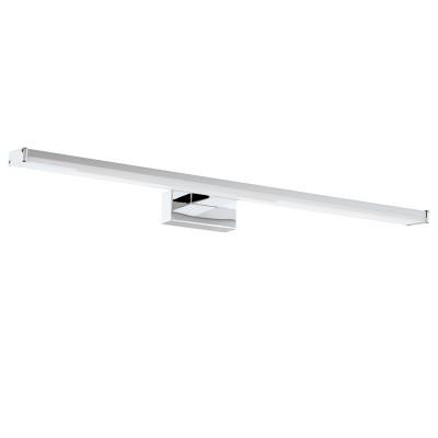 Eglo PANDELLA 1 96065 Светильник для ванной комнатыДля ванной<br>Светодиодный подсветка для зеркал PANDELLA 1, 11W(LED), L600, IP44, сталь, хром, серебро/пластик, белый применяется преимущественно в домашнем освещении с использованием стандартных выключателей и переключателей для сетей 220V.<br><br>Цветовая t, К: 4000<br>Тип лампы: LED - светодиодная<br>Тип цоколя: LED<br>Цвет арматуры: серебристый хром<br>Количество ламп: 1<br>Глубина, мм: 160<br>Длина, мм: 600<br>Высота, мм: 40<br>MAX мощность ламп, Вт: 11