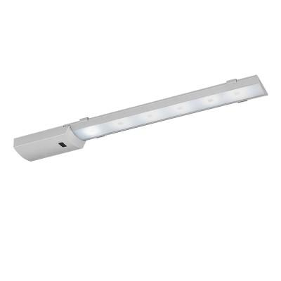 Eglo TEYA 96079 светильники для кухниДля кухни<br>Светодиодный подсветка TEYA c датч. движ. и димм., 5,4W(LED), L440, алюминий, серебро/пластик, белый применяется преимущественно в домашнем освещении с использованием стандартных выключателей и переключателей для сетей 220V.<br><br>Цветовая t, К: 4000<br>Тип лампы: LED - светодиодная<br>Тип цоколя: LED<br>Цвет арматуры: серебристый<br>Количество ламп: 1<br>Ширина, мм: 55<br>Длина, мм: 440<br>Высота, мм: 25<br>MAX мощность ламп, Вт: 5