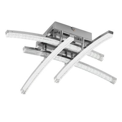 Eglo PERTINI 96093 Настенно-потолочный светильник LEDПотолочные<br>Светодиодный потол. светильник PERTINI, 4х5W(LED), 350х350, сталь, алюм., хром/пластик, прозрачный применяется преимущественно в домашнем освещении с использованием стандартных выключателей и переключателей для сетей 220V.<br><br>Установка на натяжной потолок: Да<br>S освещ. до, м2: 8<br>Цветовая t, К: 3000<br>Тип лампы: LED - светодиодная<br>Тип цоколя: LED<br>Количество ламп: 4<br>Ширина, мм: 350<br>MAX мощность ламп, Вт: 5<br>Длина, мм: 350<br>Высота, мм: 110<br>Цвет арматуры: серебристый