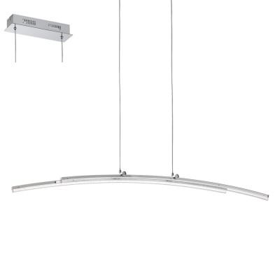 Eglo PERTINI 96096 Подвесной светильникподвесные светодиодные светильники<br>Светодиодный подвес PERTINI, 2х10,8W(LED), L960, H1500, сталь, алюм., хром/пластик, прозрачный применяется преимущественно в домашнем освещении с использованием стандартных выключателей и переключателей для сетей 220V.<br><br>S освещ. до, м2: 9<br>Цветовая t, К: 3000<br>Тип лампы: LED - светодиодная<br>Тип цоколя: LED<br>Цвет арматуры: серебристый хром<br>Количество ламп: 2<br>Ширина, мм: 80<br>Длина, мм: 960<br>Высота, мм: 1500<br>MAX мощность ламп, Вт: 11