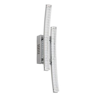 Eglo PERTINI 96097 Настенно-потолочный светильникДекоративные<br>Светодиодное бра PERTINI, 2х3W(LED), L60, H330, сталь, алюм., хром/пластик, прозрачный применяется преимущественно в домашнем освещении с использованием стандартных выключателей и переключателей для сетей 220V.<br><br>S освещ. до, м2: 2<br>Цветовая t, К: 3000<br>Тип лампы: LED - светодиодная<br>Тип цоколя: LED<br>Цвет арматуры: серебристый<br>Количество ламп: 2<br>Глубина, мм: 75<br>Длина, мм: 60<br>Высота, мм: 330<br>MAX мощность ламп, Вт: 3