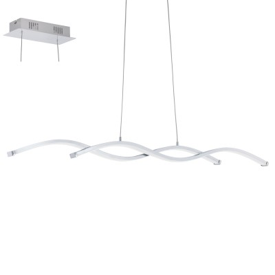 Eglo LASANA 2 96103 Подвесной светильникСветодиодные<br>Светодиодный подвес LASANA 2, 2х10,3W(LED), L1020, H1200, сталь, алюм., хром/пластик, белый применяется преимущественно в домашнем освещении с использованием стандартных выключателей и переключателей для сетей 220V.<br><br>S освещ. до, м2: 7<br>Цветовая t, К: 3000<br>Тип лампы: LED - светодиодная<br>Тип цоколя: LED<br>Количество ламп: 2<br>Ширина, мм: 80<br>MAX мощность ламп, Вт: 9<br>Длина, мм: 870<br>Высота, мм: 1200<br>Цвет арматуры: серебристый хром