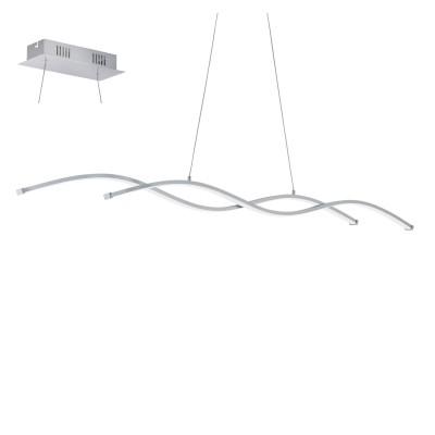 Eglo LASANA 2 96104 Подвесной светильникСветодиодные<br>Светодиодный подвес LASANA 2, 2х14W(LED), L1200, H1200, сталь, алюм., хром/пластик, белый применяется преимущественно в домашнем освещении с использованием стандартных выключателей и переключателей для сетей 220V.<br><br>S освещ. до, м2: 11<br>Цветовая t, К: 3000<br>Тип лампы: LED - светодиодная<br>Тип цоколя: LED<br>Цвет арматуры: серебристый хром<br>Количество ламп: 2<br>Ширина, мм: 110<br>Длина, мм: 1200<br>Высота, мм: 1200<br>MAX мощность ламп, Вт: 14