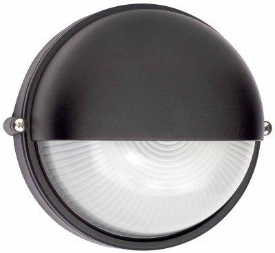 Светильник Brilliant 96107/06 TweetyНастенные<br><br><br>S освещ. до, м2: до 4<br>Тип товара: Светильник уличный<br>Тип лампы: накаливания / энергосбережения / LED-светодиодная<br>Тип цоколя: E27<br>Количество ламп: 1<br>MAX мощность ламп, Вт: 60<br>Диаметр, мм мм: 180<br>Высота, мм: 100<br>Цвет арматуры: черный