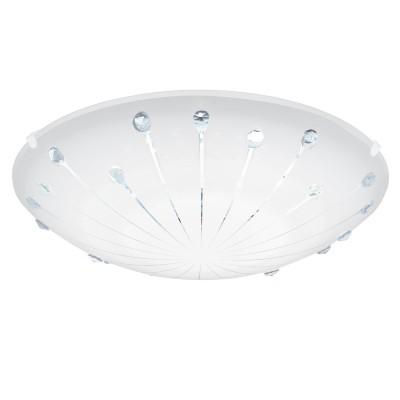 Eglo MARGITTA 1 96113 Настенно-потолочный светильникКруглые<br>Светодиодный настенно-потолочный светильник MARGITTA 1, 11W(LED), ?315, сталь, белый/стекло гранилли бел., хруст., прозрач. применяется преимущественно в домашнем освещении с использованием стандартных выключателей и переключателей для сетей 220V.<br><br>S освещ. до, м2: 4<br>Цветовая t, К: 3000<br>Тип лампы: LED - светодиодная<br>Тип цоколя: LED<br>Количество ламп: 1<br>MAX мощность ламп, Вт: 11<br>Диаметр, мм мм: 315<br>Цвет арматуры: белый