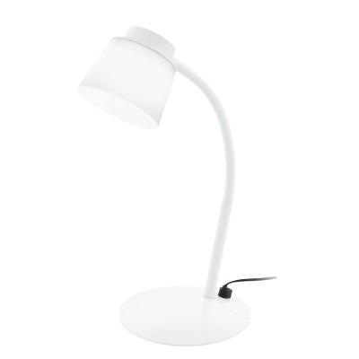 Eglo TORRINA 96138 Настольная лампа для офисаСветодиодные<br>Светодиодный наст. лампа TORRINA с рег-кой и сенс. димм., 5W(LED), L250, H330, сталь, пластик, белый/пластик, белый применяется преимущественно в домашнем освещении с использованием стандартных выключателей и переключателей для сетей 220V.<br><br>Цветовая t, К: 3000<br>Тип лампы: LED - светодиодная<br>Тип цоколя: LED<br>Цвет арматуры: белый<br>Количество ламп: 1<br>Ширина, мм: 155<br>Длина, мм: 250<br>Высота, мм: 330<br>MAX мощность ламп, Вт: 5