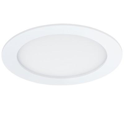 Eglo FUEVA 1 96165 Светильник для ванной комнатыВ ванную<br>Светодиодная ультратонкая встраиваемая панель FUEVA 1, 11W (LED) 3000K, ?170, IP44, белый применяется преимущественно в домашнем освещении с использованием стандартных выключателей и переключателей для сетей 220V.<br><br>Цветовая t, К: 3000<br>Тип лампы: LED - светодиодная<br>Тип цоколя: LED<br>Цвет арматуры: белый<br>Количество ламп: 1<br>Диаметр, мм мм: 170<br>MAX мощность ламп, Вт: 11