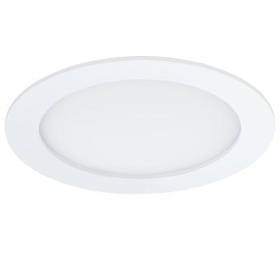 Eglo FUEVA 1 96166 Светильник для ванной комнатыВ ванную<br>Светодиодная ультратонкая встраиваемая панель FUEVA 1, 11W (LED) 4000K, ?170, IP44, белый применяется преимущественно в домашнем освещении с использованием стандартных выключателей и переключателей для сетей 220V.<br><br>Цветовая t, К: 4000<br>Тип лампы: LED - светодиодная<br>Тип цоколя: LED<br>Количество ламп: 1<br>MAX мощность ламп, Вт: 11<br>Диаметр, мм мм: 170<br>Цвет арматуры: белый