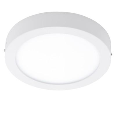 Eglo FUEVA 1 96168 Светильник для ванной комнатыДля ванной<br>Светодиодная ультратонкая накладная панель FUEVA 1, 22W (LED) 3000K, ?300, IP44, белый применяется преимущественно в домашнем освещении с использованием стандартных выключателей и переключателей для сетей 220V.<br><br>Цветовая t, К: 3000<br>Тип лампы: LED - светодиодная<br>Тип цоколя: LED<br>Цвет арматуры: белый<br>Количество ламп: 1<br>Диаметр, мм мм: 300<br>Высота, мм: 40<br>MAX мощность ламп, Вт: 22