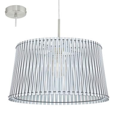 Eglo SENDERO 96186 Подвесной светильникОдиночные<br>Подвес SENDERO, 1х60W(E27), ?450, H1300, сталь, белый/дерево, белый  применяется преимущественно в домашнем освещении с использованием стандартных выключателей и переключателей для сетей 220V.<br><br>S освещ. до, м2: 3<br>Тип цоколя: E27<br>Количество ламп: 1<br>MAX мощность ламп, Вт: 60<br>Диаметр, мм мм: 450<br>Высота, мм: 1100<br>Цвет арматуры: белый
