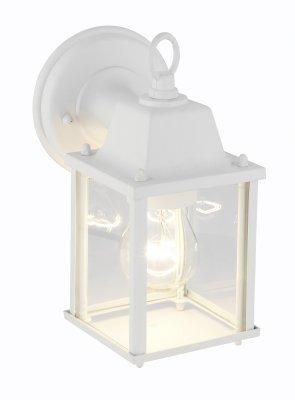 Светильник уличный Brilliant 96186/05 IrvinНастенные<br>Зачастую мы ищем идеальное освещение для своего дома и уделяем этому достаточно много времени. Так, например, если нам нужен светильник с количеством ламп - 1 и цвет плафонов должен быть - прозрачный, а материал плафонов только стекло! То нам, как вариант, подойдет модель - светильник уличный Brilliant 96186/05.<br><br>S освещ. до, м2: до 4<br>Тип лампы: накаливания / энергосбережения / LED-светодиодная<br>Тип цоколя: E27<br>Цвет арматуры: белый<br>Количество ламп: 1<br>Высота, мм: 220<br>MAX мощность ламп, Вт: 60