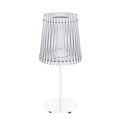 Eglo SENDERO 96189 Настольная лампаОжидается<br>Настольная лампа SENDERO, 1х60W(E27), ?180, H415, сталь, белый/дерево, белый  применяется преимущественно в домашнем освещении с использованием стандартных выключателей и переключателей для сетей 220V.<br><br>Тип цоколя: E27<br>Цвет арматуры: белый<br>Количество ламп: 1<br>Диаметр, мм мм: 180<br>Высота, мм: 415<br>MAX мощность ламп, Вт: 60
