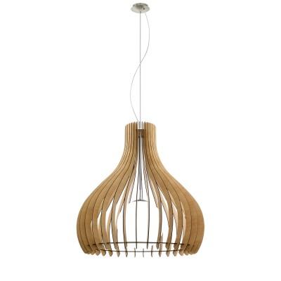 Eglo TINDORI 96216 Подвесной светильникОдиночные<br>Подвес TINDORI, 1х60W(E27), ?800, H3000, сталь, никель мат./дерево, стекло, клен, белый применяется преимущественно в домашнем освещении с использованием стандартных выключателей и переключателей для сетей 220V.<br><br>Тип лампы: Накаливания / энергосбережения / светодиодная<br>Тип цоколя: E27<br>Количество ламп: 1<br>MAX мощность ламп, Вт: 60<br>Диаметр, мм мм: 800<br>Высота, мм: 3000<br>Цвет арматуры: никель матовый