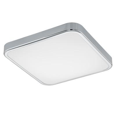 Eglo MANILVA 1 96229 Настенно-потолочный светильникКвадратные<br>Светодиодный настенно-потолочный светильник MANILVA 1, 16W(LED), 290х290, сталь, хром/пластик, белый применяется преимущественно в домашнем освещении с использованием стандартных выключателей и переключателей для сетей 220V.<br><br>S освещ. до, м2: 6<br>Цветовая t, К: 3000<br>Тип лампы: LED - светодиодная<br>Тип цоколя: LED<br>Цвет арматуры: серебристый хром<br>Количество ламп: 1<br>Ширина, мм: 290<br>Длина, мм: 290<br>Высота, мм: 70<br>MAX мощность ламп, Вт: 16