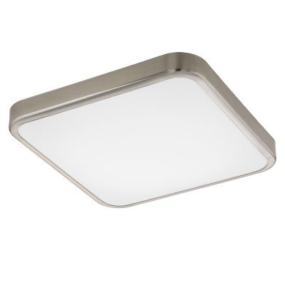 Eglo MANILVA 1 96231 Настенно-потолочный светильникКвадратные<br>Светодиодный настенно-потолочный светильник MANILVA 1, 16W(LED), 290х290, сталь, никель мат./пластик, белый применяется преимущественно в домашнем освещении с использованием стандартных выключателей и переключателей для сетей 220V.<br><br>S освещ. до, м2: 6<br>Цветовая t, К: 3000<br>Тип лампы: LED - светодиодная<br>Тип цоколя: LED<br>Цвет арматуры: серебристый<br>Количество ламп: 1<br>Ширина, мм: 290<br>Длина, мм: 290<br>Высота, мм: 70<br>MAX мощность ламп, Вт: 16