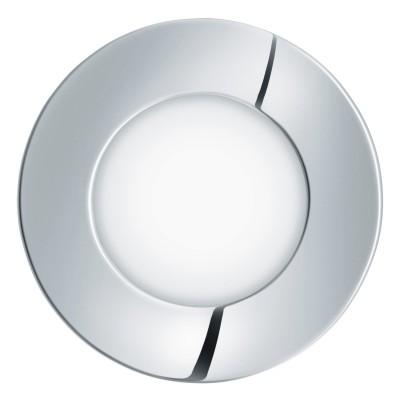 Eglo FUEVA 1 96242 Встраиваемый светильникКруглые LED<br>Светодиодная ультратонкая встраиваемая панель FUEVA 1, 2,7W (LED) 3000K, ?85, IP44, хром  применяется преимущественно в домашнем освещении с использованием стандартных выключателей и переключателей для сетей 220V.<br><br>Цветовая t, К: 3000<br>Тип лампы: LED - светодиодная<br>Тип цоколя: LED<br>Количество ламп: 1<br>MAX мощность ламп, Вт: 3<br>Диаметр, мм мм: 85<br>Цвет арматуры: серебристый хром