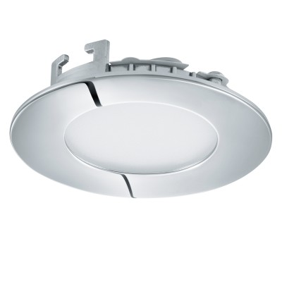 Eglo FUEVA 1 96243 Встраиваемый светильникКруглые LED<br>Светодиодная ультратонкая встраиваемая панель FUEVA 1, 2,7W (LED) 4000K, ?85, IP44, хром применяется преимущественно в домашнем освещении с использованием стандартных выключателей и переключателей для сетей 220V.<br><br>Цветовая t, К: 4000<br>Тип лампы: LED - светодиодная<br>Тип цоколя: LED<br>Количество ламп: 1<br>MAX мощность ламп, Вт: 3<br>Диаметр, мм мм: 85<br>Цвет арматуры: серебристый хром