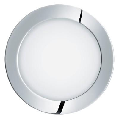 Eglo FUEVA 1 96244 Встраиваемый светильникКруглые LED<br>Светодиодная ультратонкая встраиваемая панель FUEVA 1, 10,9W (LED) 3000K, ?170, IP44, хром  применяется преимущественно в домашнем освещении с использованием стандартных выключателей и переключателей для сетей 220V.<br><br>Цветовая t, К: 3000<br>Тип лампы: LED - светодиодная<br>Тип цоколя: LED<br>Количество ламп: 1<br>MAX мощность ламп, Вт: 11<br>Диаметр, мм мм: 170<br>Цвет арматуры: серебристый хром