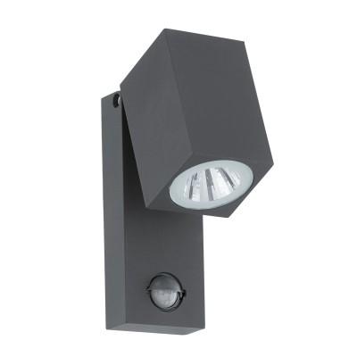 Eglo SAKEDA 96287 Уличный светодиодный настенный светильникНастенные<br>Обеспечение качественного уличного освещения – важная задача для владельцев коттеджей. Компания «Светодом» предлагает современные светильники, которые порадуют Вас отличным исполнением. В нашем каталоге представлена продукция известных производителей, пользующихся популярностью благодаря высокому качеству выпускаемых товаров.   Уличный светильник Eglo 96287 не просто обеспечит качественное освещение, но и станет украшением Вашего участка. Модель выполнена из современных материалов и имеет влагозащитный корпус, благодаря которому ей не страшны осадки.   Купить уличный светильник Eglo 96287, представленный в нашем каталоге, можно с помощью онлайн-формы для заказа. Чтобы задать имеющиеся вопросы, звоните нам по указанным телефонам.<br><br>Цветовая t, К: 3000<br>Тип цоколя: LED - светодиодная<br>MAX мощность ламп, Вт: 1X5W<br>Глубина, мм: 100<br>Длина, мм: 70<br>Высота, мм: 170<br>Цвет арматуры: антрацит