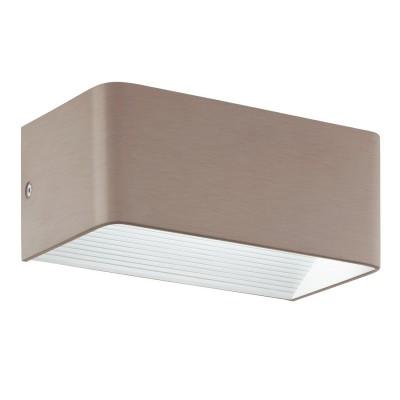 Eglo SANIA 3 96302 Настенный светильникБра хай тек стиля<br>Светодиодное бра SANIA 3, 5W(LED), L200, H80, алюминий, никель матовый применяется преимущественно в домашнем освещении с использованием стандартных выключателей и переключателей для сетей 220V.<br><br>Цветовая t, К: 3000<br>Тип лампы: LED - светодиодная<br>Тип цоколя: LED<br>Цвет арматуры: никель матовый<br>Количество ламп: 1<br>Глубина, мм: 100<br>Длина, мм: 200<br>Высота, мм: 80<br>MAX мощность ламп, Вт: 5