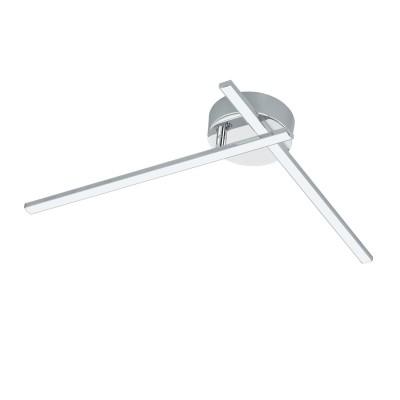 Светодиодиодный светильник Eglo 96304 NEVADOдекоративные светильники<br>Светодиодиодный светильник Eglo 96304 NEVADO сделает Ваш интерьер современным, стильным и запоминающимся! Наиболее функционально и эстетически привлекательно модель будет смотреться в гостиной, зале, холле или другой комнате. А в комплекте с люстрой и торшером из этой же коллекции, сделает помещение по-дизайнерски профессиональным и законченным.