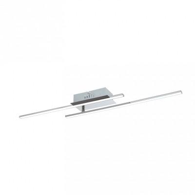96315 Eglo - Светодиодный потолочный светильник PARRIлюстры хай тек<br><br><br>Установка на натяжной потолок: Да<br>S освещ. до, м2: 5<br>Крепление: Планка<br>Цветовая t, К: 3000<br>Тип лампы: LED-светодиодная<br>Тип цоколя: LED<br>Цвет арматуры: серебристый хром<br>Количество ламп: 2<br>Ширина, мм: 90<br>Длина, мм: 800<br>Высота, мм: 70<br>Оттенок (цвет): серебристый<br>MAX мощность ламп, Вт: 6