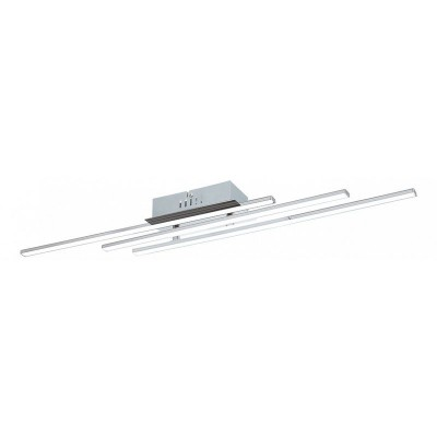 96316 Eglo - Светодиодный потолочный светильник PARRIПотолочные<br><br><br>Установка на натяжной потолок: Да<br>S освещ. до, м2: 9<br>Крепление: Планка<br>Цветовая t, К: 3000<br>Тип лампы: LED-светодиодная<br>Тип цоколя: LED<br>Цвет арматуры: серебристый хром<br>Количество ламп: 3<br>Ширина, мм: 90<br>Длина, мм: 1000<br>Высота, мм: 70<br>Оттенок (цвет): серебристый<br>MAX мощность ламп, Вт: 6