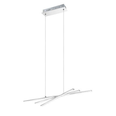 96318 Eglo - Светодиодный подвес PARRIподвесные люстры хай тек<br><br><br>Установка на натяжной потолок: Да<br>S освещ. до, м2: 7<br>Крепление: Планка<br>Цветовая t, К: 3000<br>Тип лампы: LED-светодиодная<br>Тип цоколя: LED<br>Цвет арматуры: серебристый хром<br>Количество ламп: 3<br>Ширина, мм: 245<br>Длина, мм: 725<br>Высота, мм: 1100<br>Оттенок (цвет): серебристый<br>MAX мощность ламп, Вт: 6