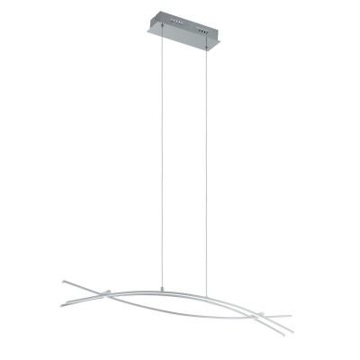 96331 Eglo - Светодиодный подвес NEVADOдлинные подвесные светильники<br><br><br>Установка на натяжной потолок: Да<br>S освещ. до, м2: 13<br>Крепление: Планка<br>Цветовая t, К: 3000<br>Тип лампы: LED - светодиодная<br>Тип цоколя: LED, встроенные светодиоды<br>Цвет арматуры: серебристый<br>Количество ламп: 3<br>Ширина, мм: 80<br>Высота полная, мм: 1100<br>Длина, мм: 900<br>Поверхность арматуры: матовая<br>Оттенок (цвет): серебристый<br>MAX мощность ламп, Вт: 9<br>Общая мощность, Вт: 27