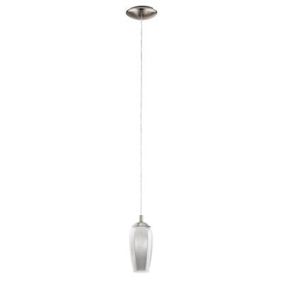 96343 Eglo - Светодиодный подвес FARSALAОдиночные<br><br><br>Установка на натяжной потолок: Да<br>Крепление: Планка<br>Цветовая t, К: 3000<br>Тип лампы: галогенная/LED - светодиодная<br>Тип цоколя: G9<br>Цвет арматуры: серебристый<br>Количество ламп: 1<br>Диаметр, мм мм: 125<br>Высота полная, мм: 1100<br>Высота, мм: 400<br>Поверхность арматуры: матовая<br>Оттенок (цвет): серебристый<br>MAX мощность ламп, Вт: 40