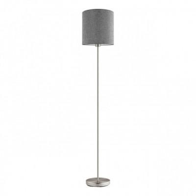 96377 Eglo - Торшер PASTERI с ножн. выкл.Современные торшеры<br><br><br>Тип лампы: накаливания/энергосбер-я<br>Тип цоколя: E27<br>Цвет арматуры: серебристый<br>Количество ламп: 1<br>Диаметр, мм мм: 280<br>Высота, мм: 1585<br>MAX мощность ламп, Вт: 60