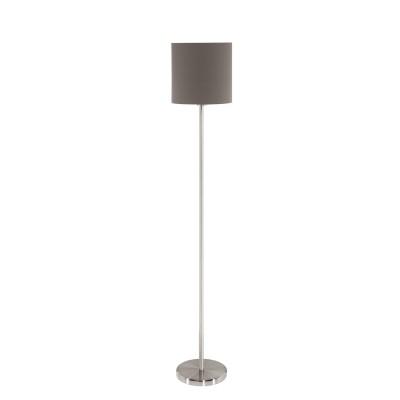 96378 Eglo - Торшер PASTERI с ножн. выкл.современные торшеры<br><br><br>Тип лампы: накаливания/энергосбер-я<br>Тип цоколя: E27<br>Цвет арматуры: серебристый<br>Количество ламп: 1<br>Диаметр, мм мм: 280<br>Высота, мм: 1585<br>MAX мощность ламп, Вт: 60
