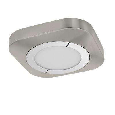 96392 Eglo - Светодиодный накладной светильник PUYOКвадратные<br><br><br>Установка на натяжной потолок: Да<br>Цветовая t, К: 3000<br>Тип лампы: LED - светодиодная<br>Тип цоколя: LED, встроенные светодиоды<br>Цвет арматуры: серебристый<br>Количество ламп: 1<br>Ширина, мм: 230<br>Длина, мм: 230<br>Высота, мм: 40<br>Поверхность арматуры: матовая<br>Оттенок (цвет): никель<br>Общая мощность, Вт: 11